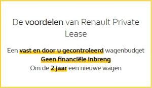 Voordelen Renault Private Lease