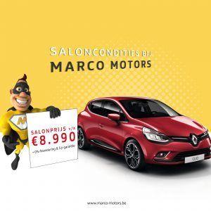 Renault Clio - saloncondities 2018