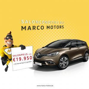 Renault Grand Scenic - saloncondities 2018